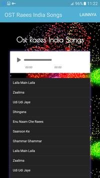 OST Raees India Songs apk screenshot
