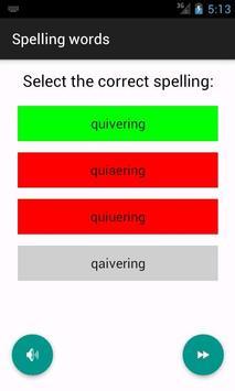 Game - Spelling english words apk screenshot