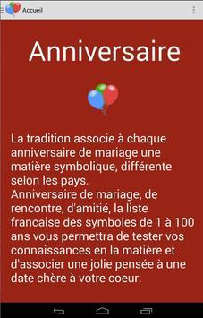 anniversaire de mariage de 1 à 100 ans