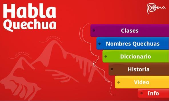 Habla Quechua poster