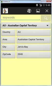 Worldwide Postal ZIP Codes screenshot 3