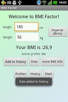 BMI Factor apk screenshot
