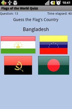 Flags of the World Quizz screenshot 3