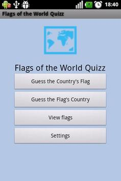 Flags of the World Quizz poster