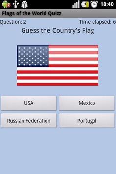 Flags of the World Quizz screenshot 2