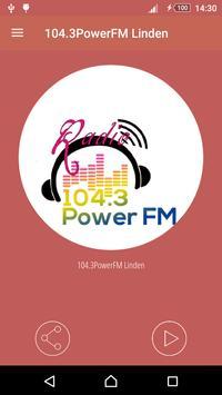 104.3PowerFM Linden poster