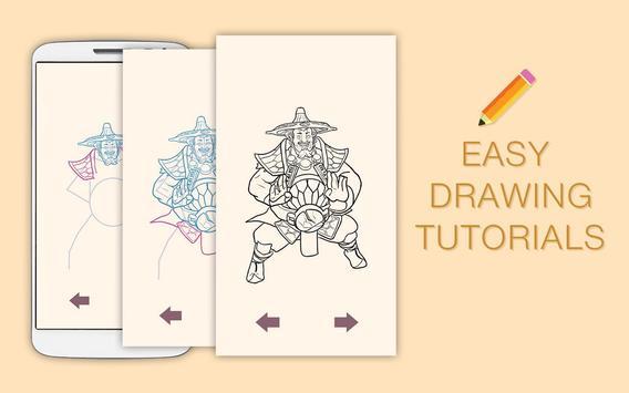Draw Drawings Dota Gameplay Champions screenshot 3