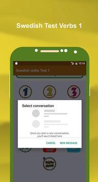 تعلم اللغة السويدية بالصوت : اختبار الافعال 1 screenshot 2