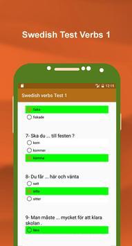 تعلم اللغة السويدية بالصوت : اختبار الافعال 1 screenshot 3