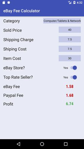 Ebay Fee Calculator For Android Apk Download