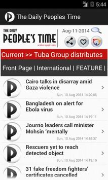 The daily Peoples Time apk screenshot