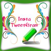 Insta Twegram - Text on Pic icon