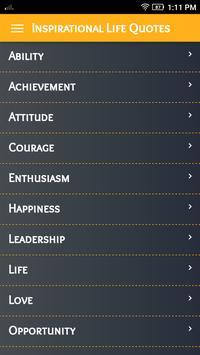 Inspirational Life Quotes screenshot 1