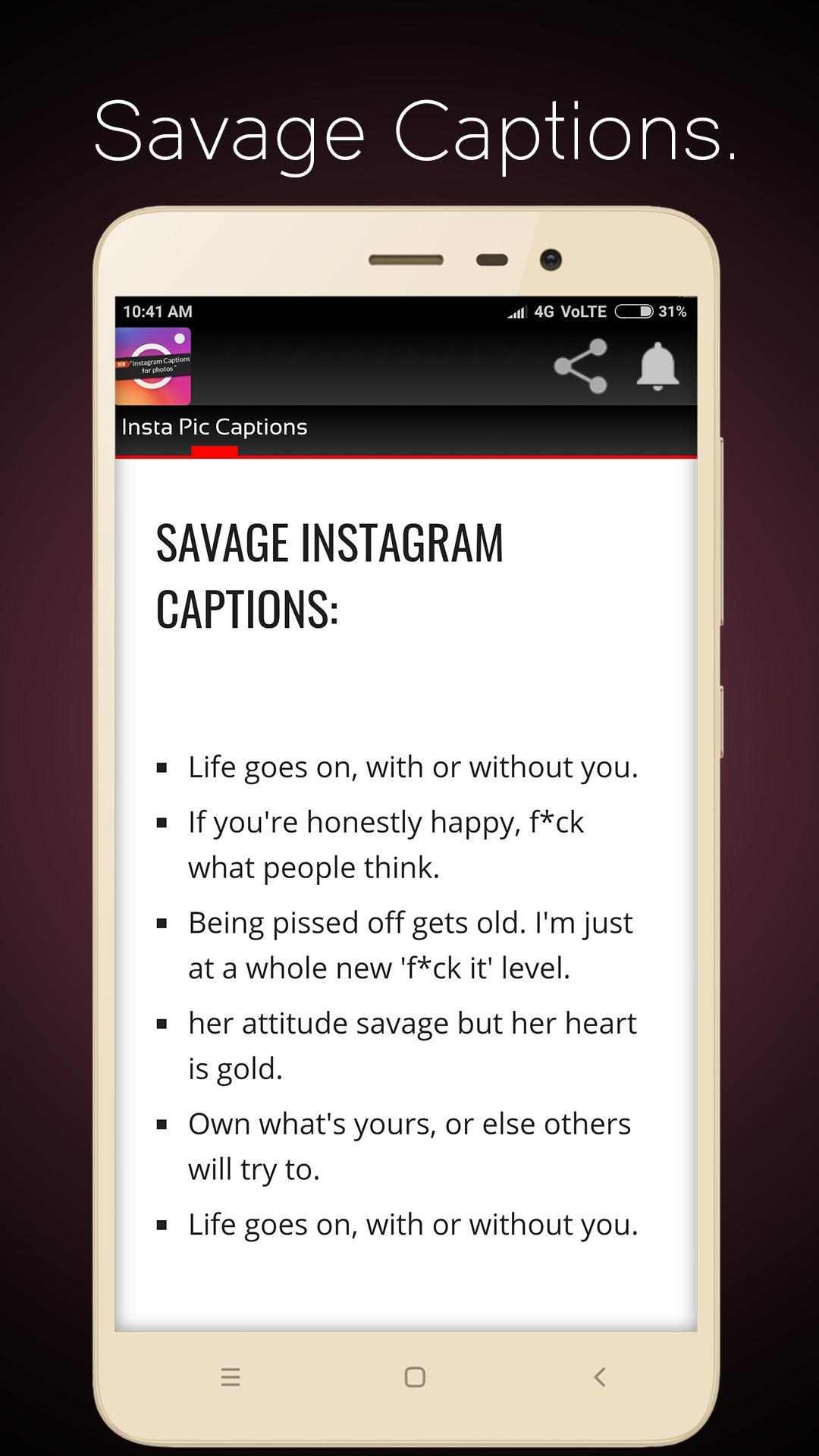 Insta Pic Captions for Android APK Download