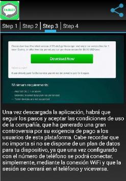Instalar wasap gratis tablet screenshot 1