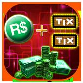 Instant Roblox Code :  r$ and Tix Simulator icon