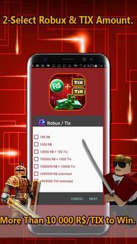 Instant Roblox Code :  r$ and Tix Simulator apk screenshot