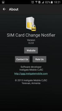 SIM Card Change Notifier screenshot 2