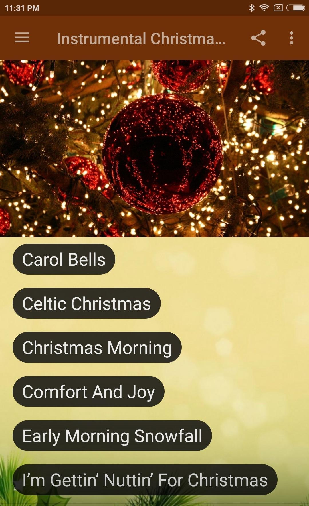 Instrumental Christmas Music.Instrumental Christmas Music Contemporary For Android