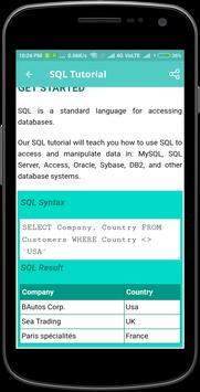 SQL Tutorial screenshot 3