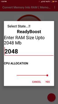 Convertir la mémoire en RAM