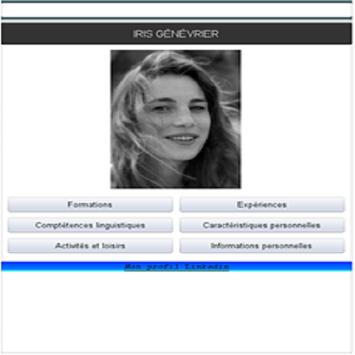 Iris Genevrier CV screenshot 1