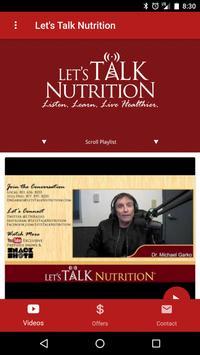 Let's Talk Nutrition apk screenshot