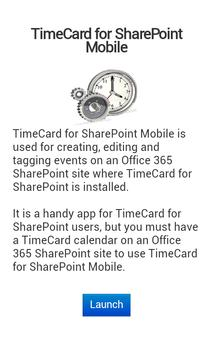 TimeCard for SharePoint Mobile poster