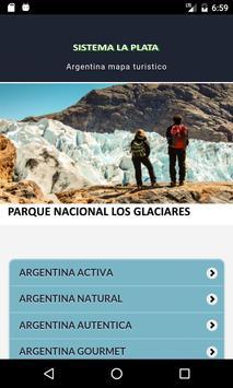 argentina mapa turistico poster
