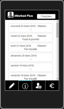 iWorkedPlus apk screenshot