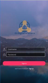 Ek Signature Here screenshot 1