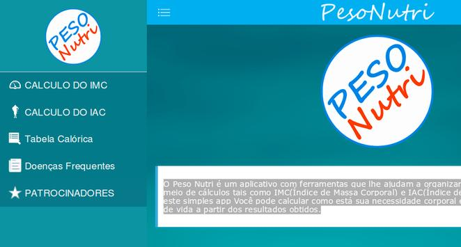 PesoNutri apk screenshot