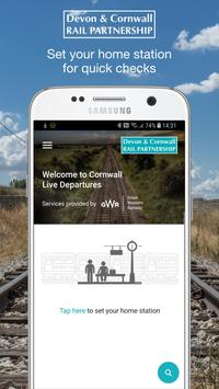 Cornwall Live Train Departure Times poster