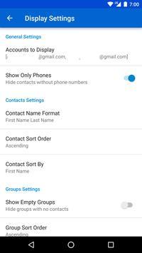 Contacts 5+ (w/ Groups) apk screenshot