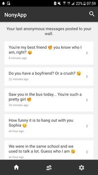 NonyApp : Anonymous Messages (Sarahah with Reply) poster
