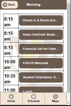 Valparaiso University FOCUS apk screenshot