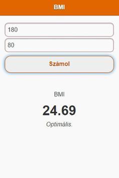 BMI Kalkulátor screenshot 1