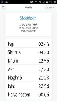 Muslimappen - Bönetider, Qibla poster