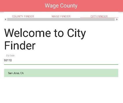 WageCounty apk screenshot