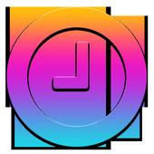 Smart color clock icon