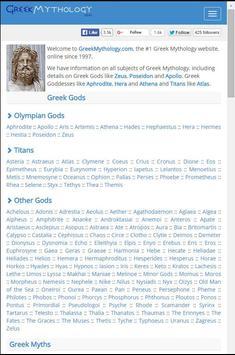 Greek Mythology.com apk screenshot