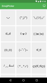 Emoticon Picker apk screenshot