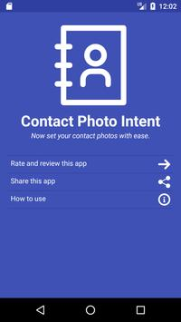 Contact Photo Intent poster
