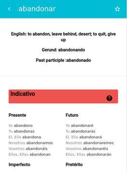 Verbs conjugator ES screenshot 1