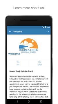 Boones Creek Christian Church apk screenshot