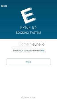EYNE.IO Booking poster
