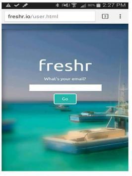 Freshr apk screenshot