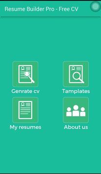 Resume Builder Pro - Free CV screenshot 1
