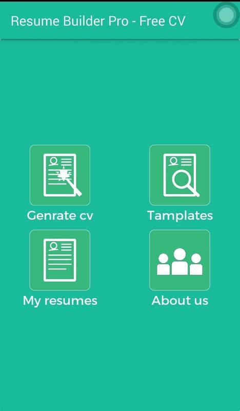 resume builder pro free cv screenshot 1