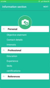 Resume Builder Pro - Free CV screenshot 2